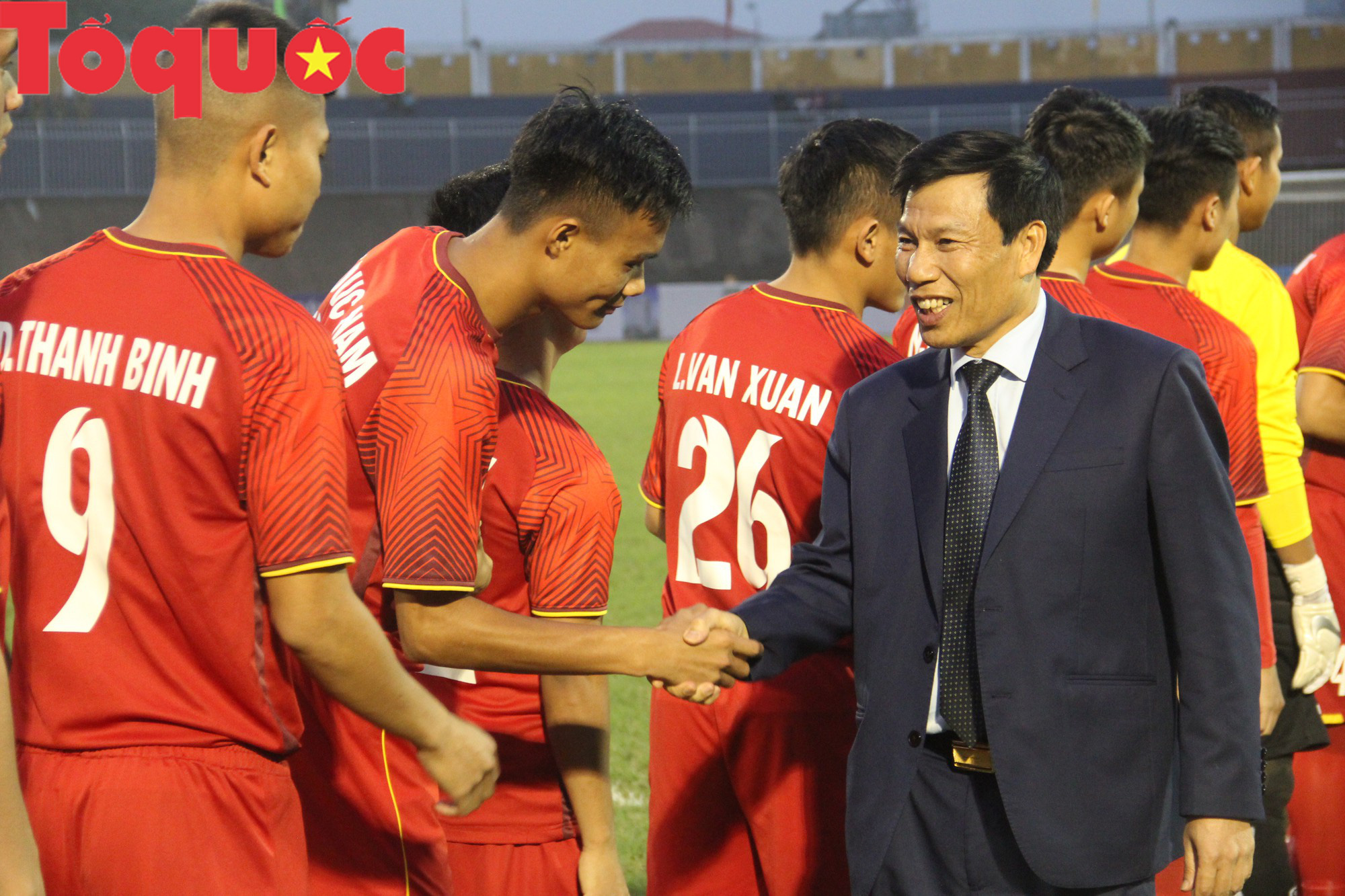 Bộ trưởng Nguyễn Ngọc Thiện dự khán trận chung kết U21 quốc tế - Ảnh 2.