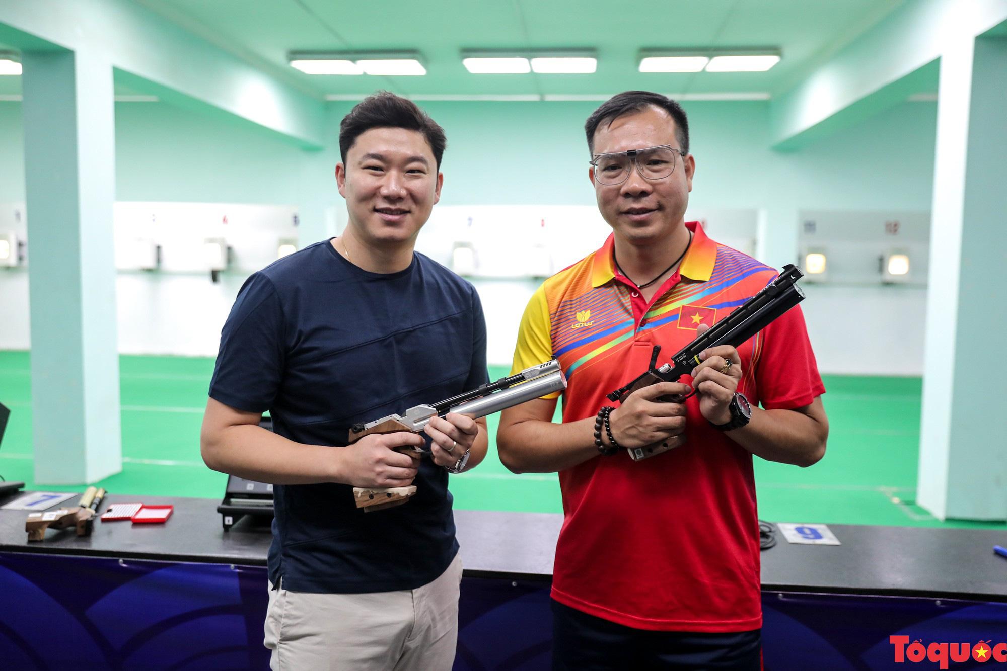 Siêu xạ thủ Jin Jong Oh giao lưu bắn súng cùng các VĐV Việt Nam - Ảnh 9.