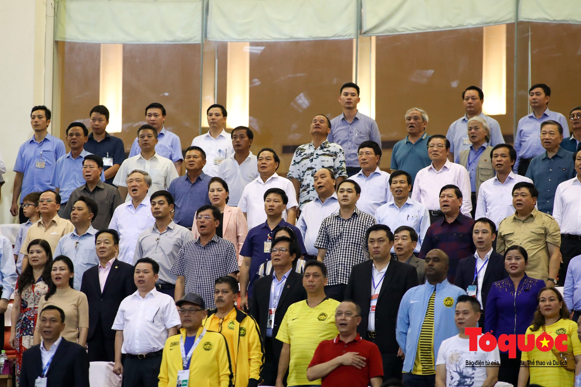 Thủ tướng, Chủ tịch Quốc hội dự khán trận giữa Việt Nam và Malaysia tại vòng loại World Cup 20221