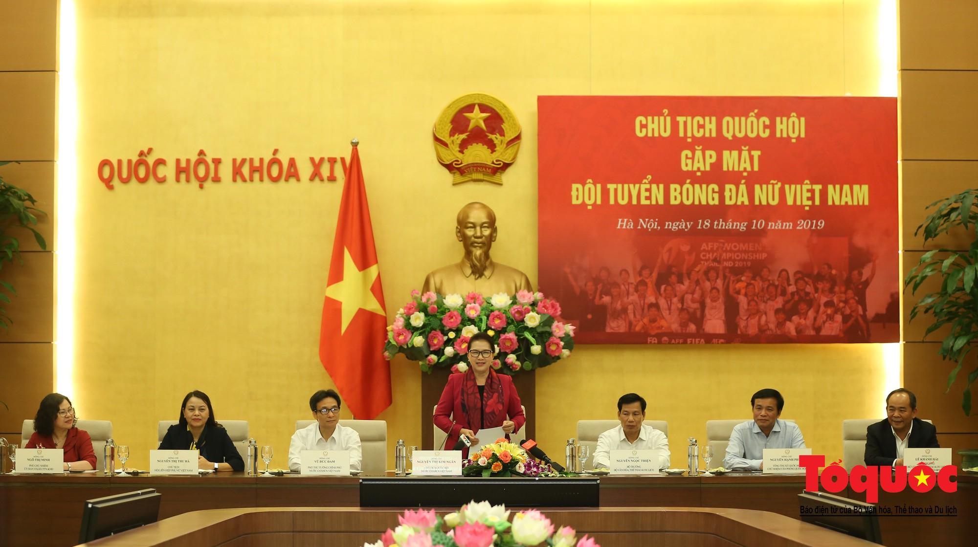 Chủ tịch Quốc hội Nguyễn Thị Kim Ngân: Bóng đá nam nhìn thành tích bóng đá nữ còn phải mơ ước dài10