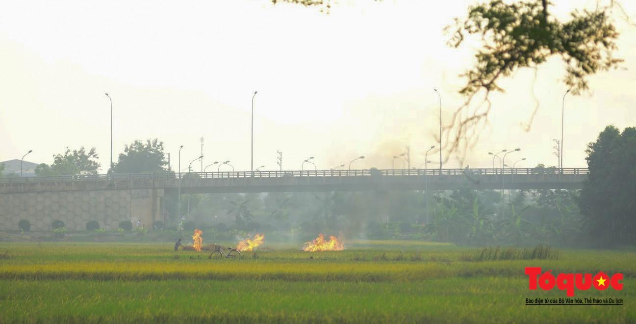 Nông dân ngoại thành vô tình khiến nội thành Hà Nội có một lớp sương mờ5