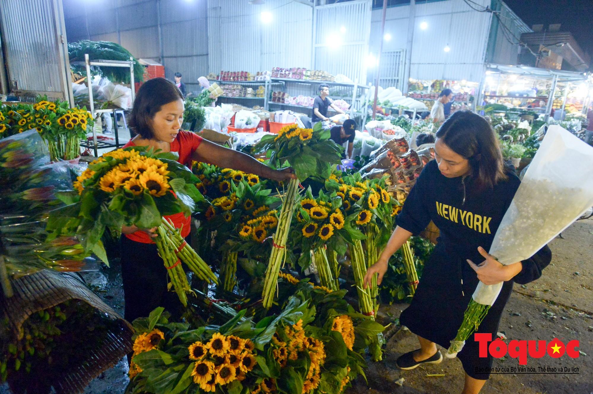 Nhộn nhịp chợ hoa lớn nhất Hà Nội dịp 20:101