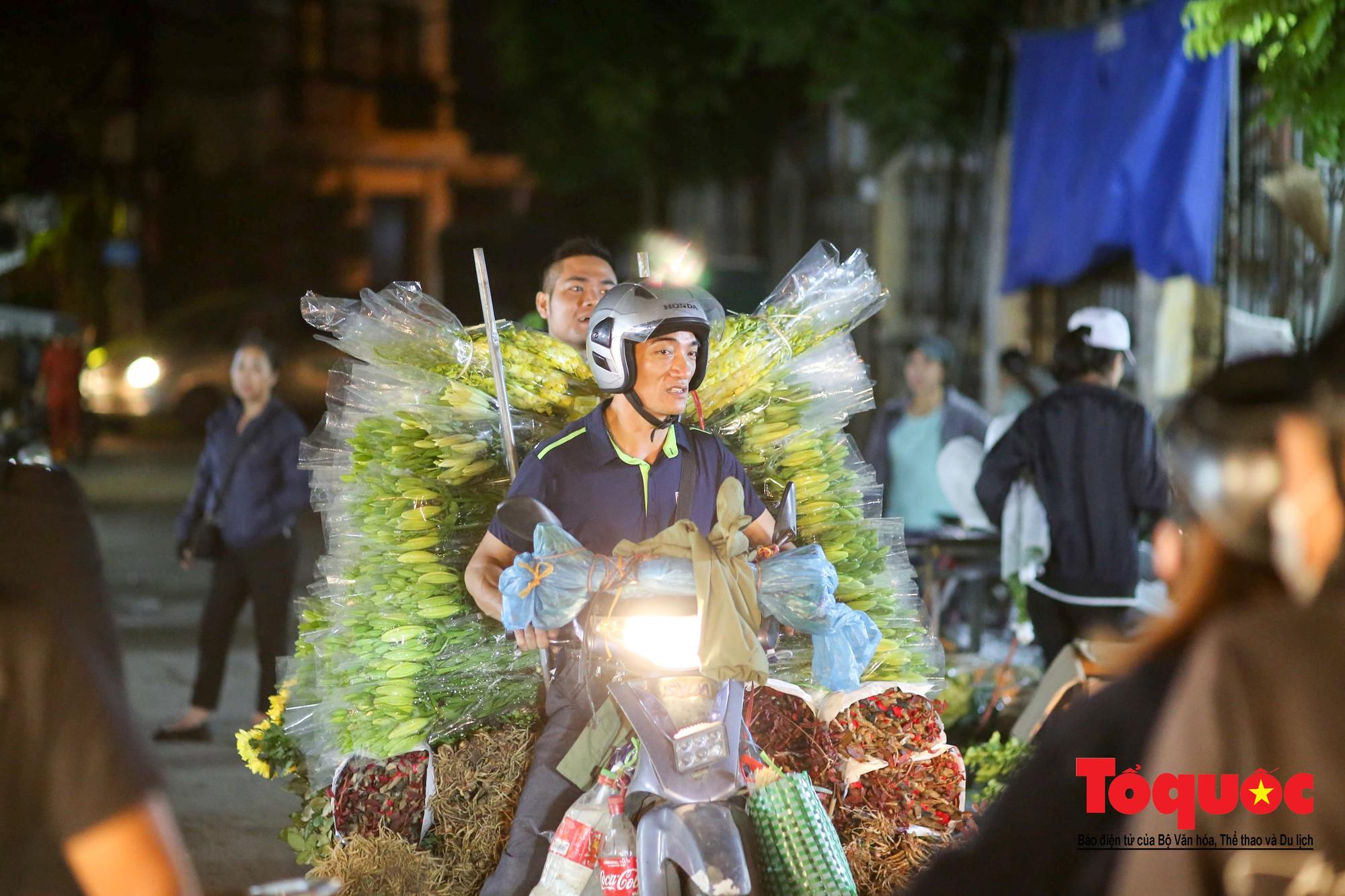 Nhộn nhịp chợ hoa lớn nhất Hà Nội dịp 20:1021