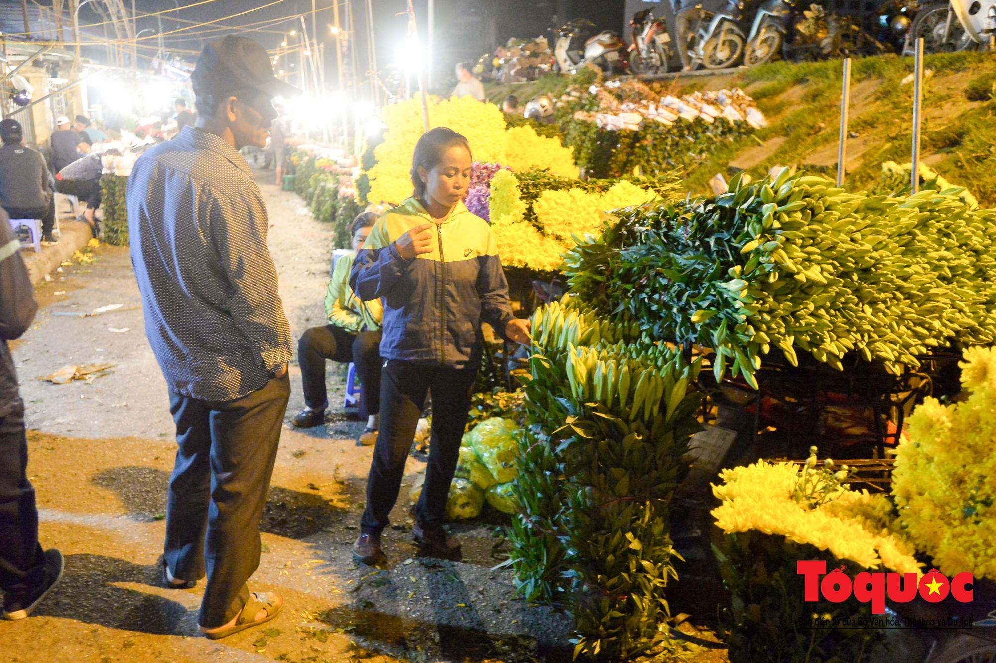 Nhộn nhịp chợ hoa lớn nhất Hà Nội dịp 20:103