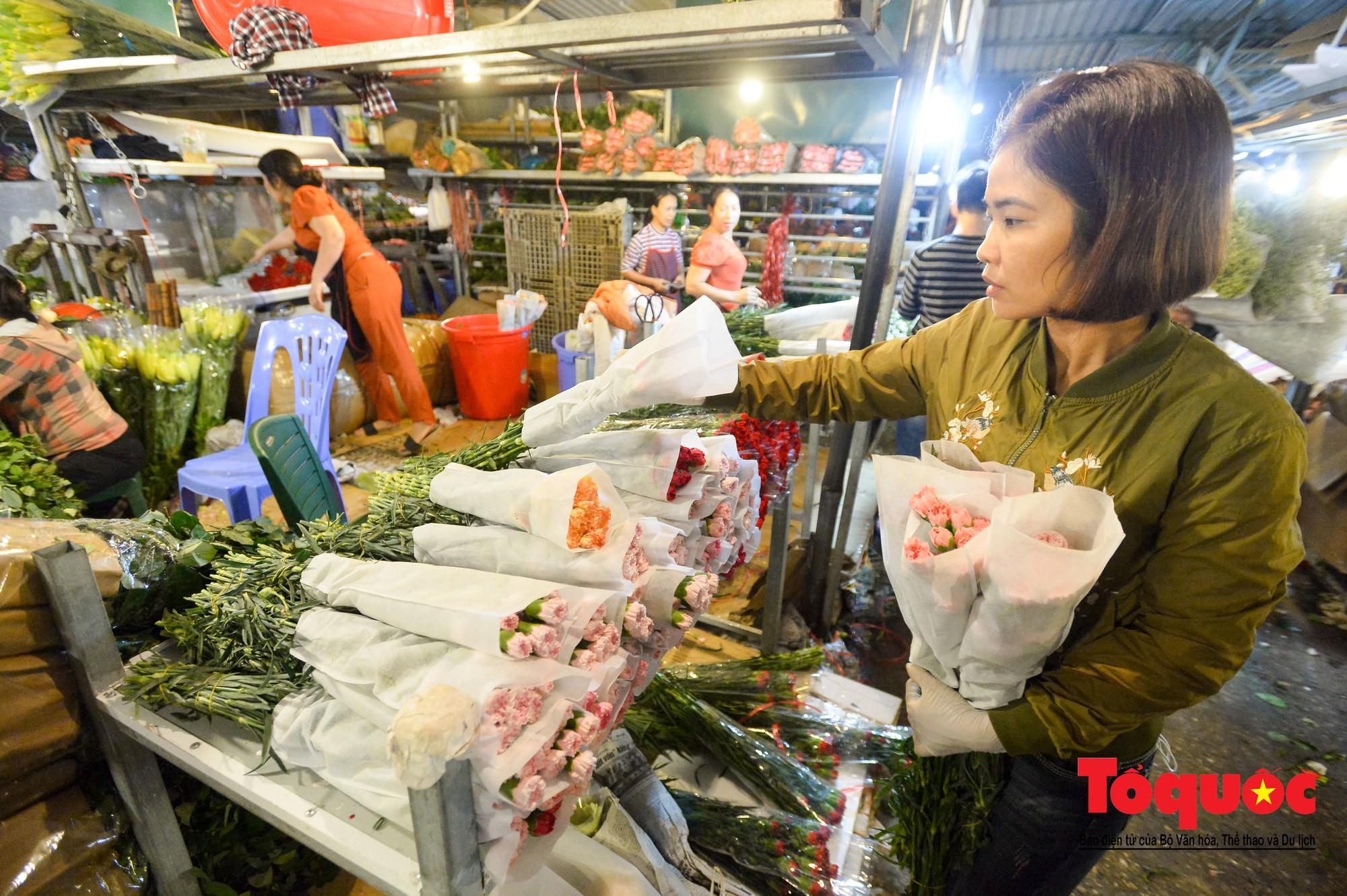 Nhộn nhịp chợ hoa lớn nhất Hà Nội dịp 20:107