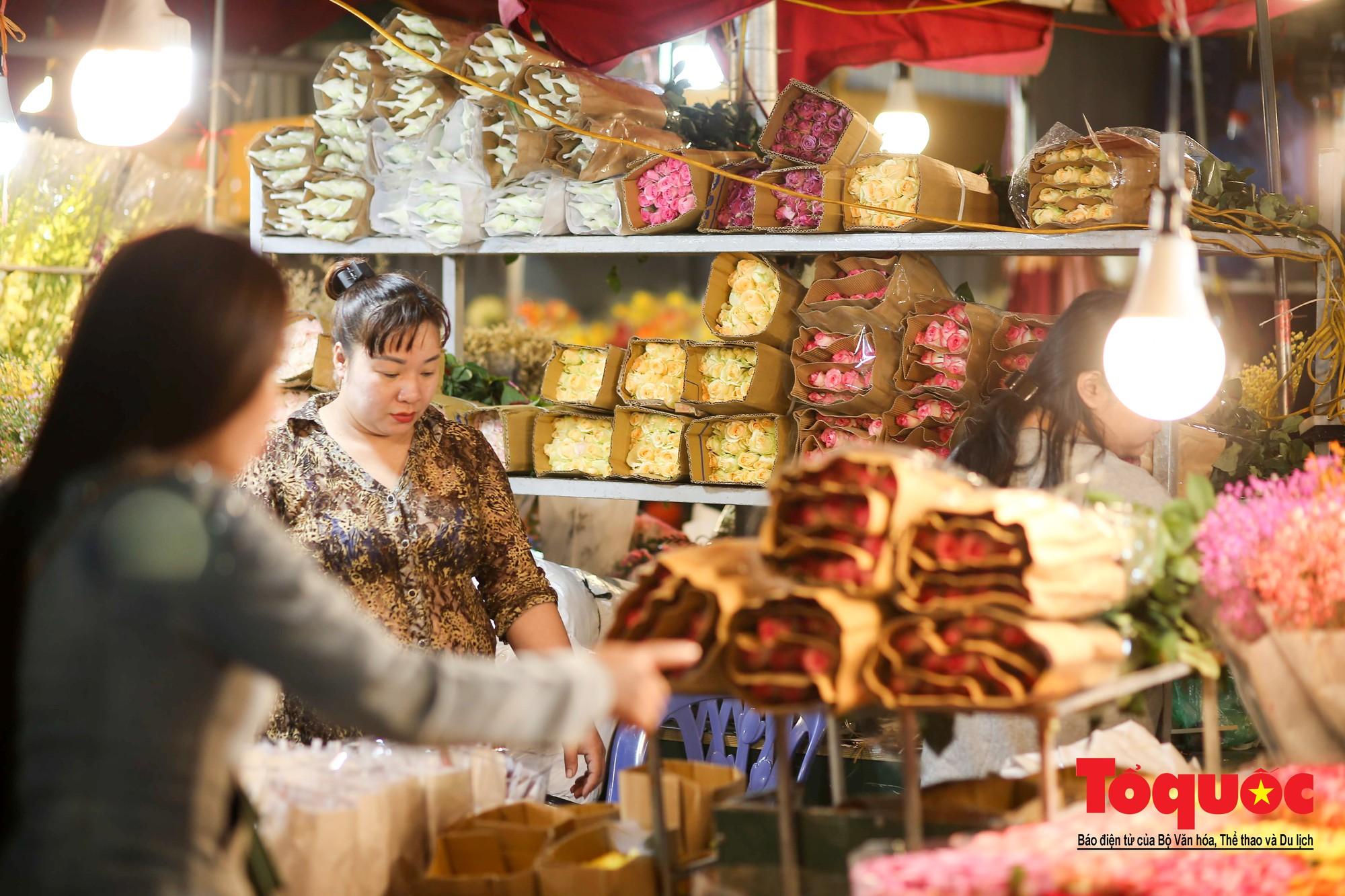Nhộn nhịp chợ hoa lớn nhất Hà Nội dịp 20:109