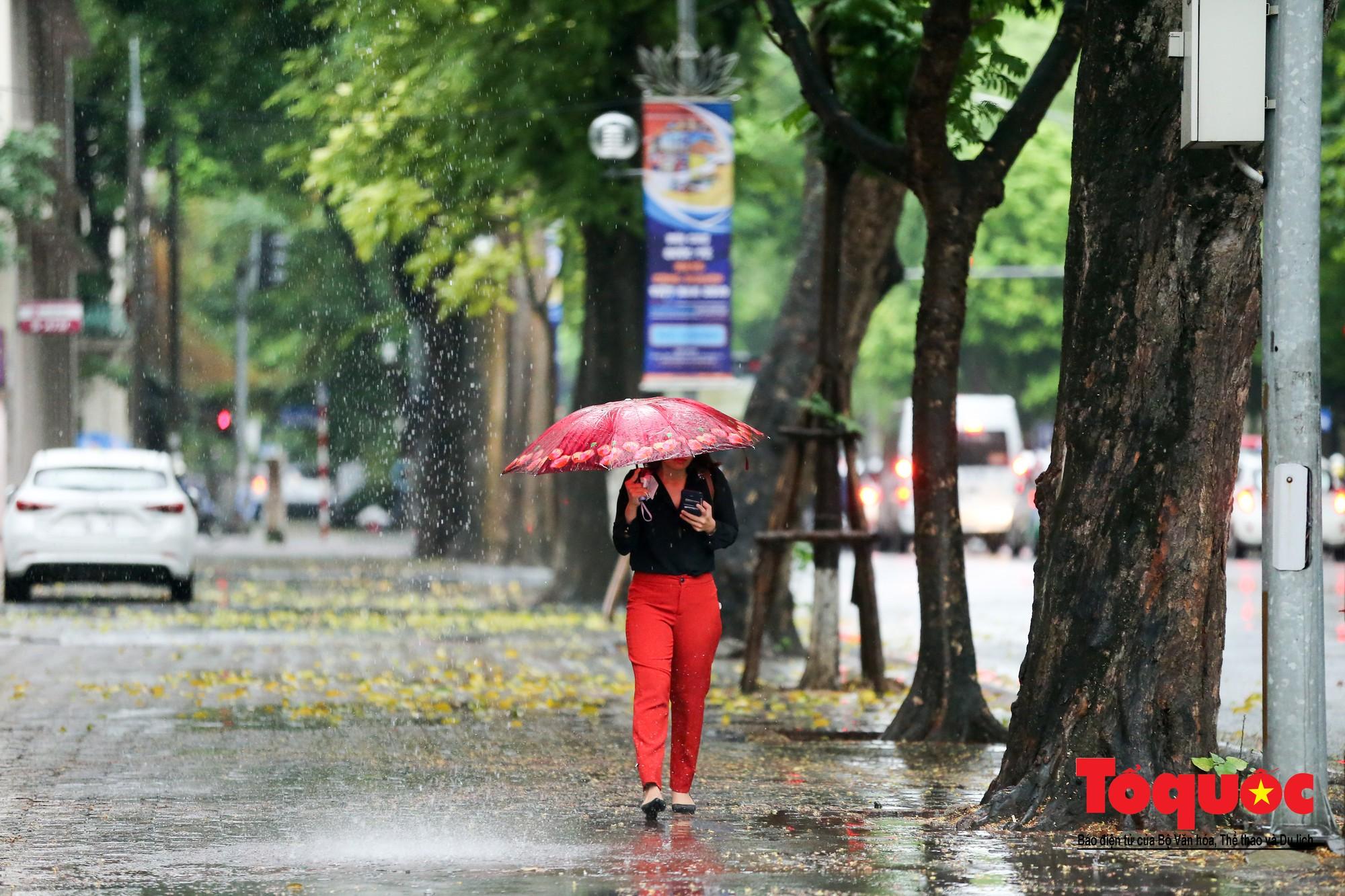 Cơn mưa lớn bất trợt khiến không khí ở thủ đô Hà Nội giảm bụi ô nhiễm nhanh chóng9