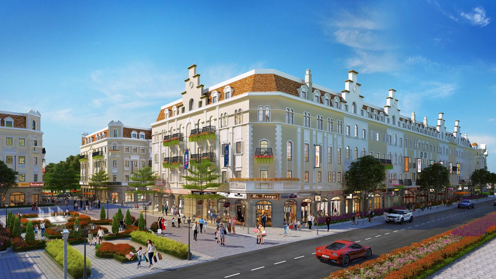 2- Phối cảnh dự án Shophouse Europe