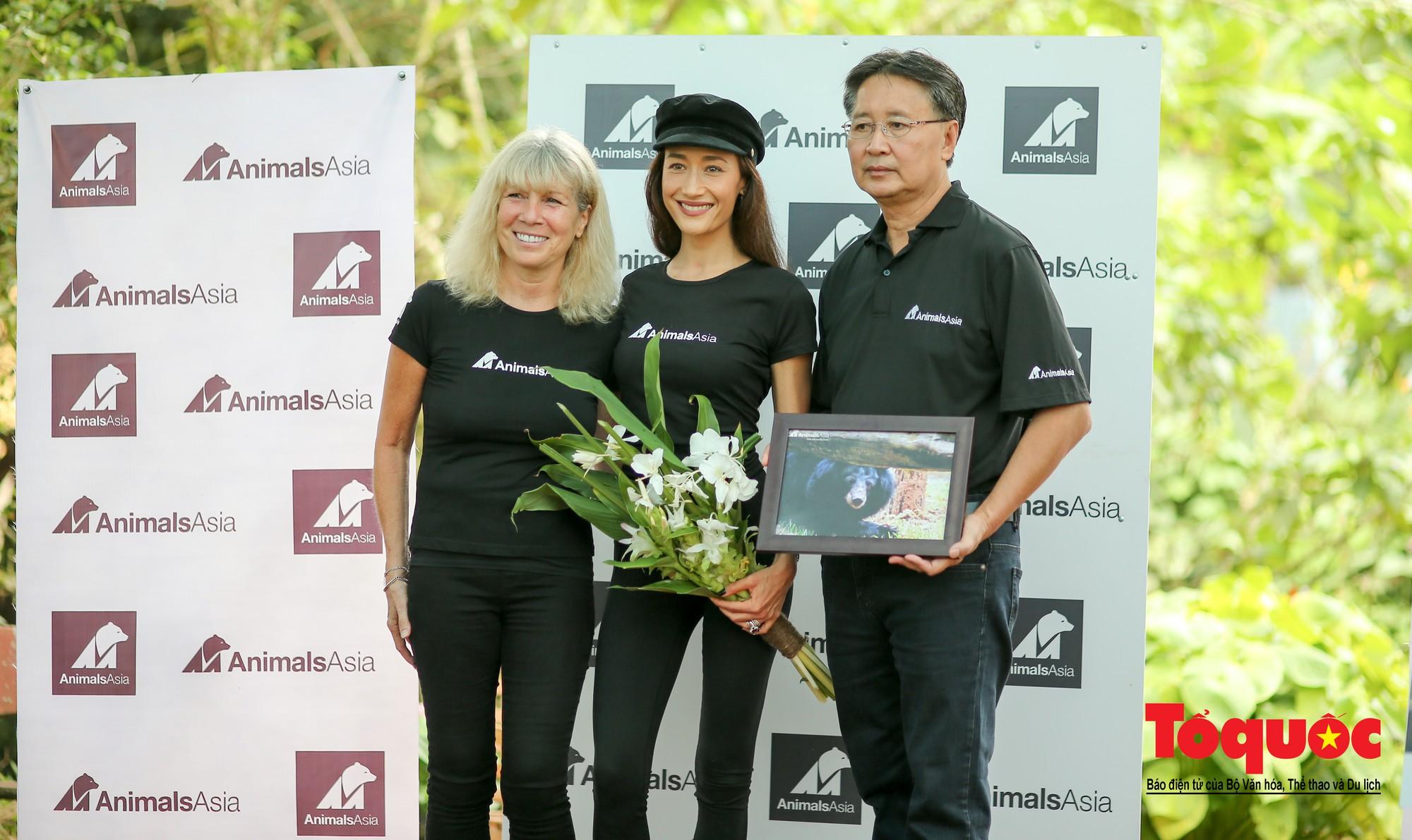 Ngôi sao Hollywood người Mỹ gốc Việt Maggie Q thăm Trung tâm Cứu hộ Gấu Việt Nam và đặt tên cho một chú gấu5