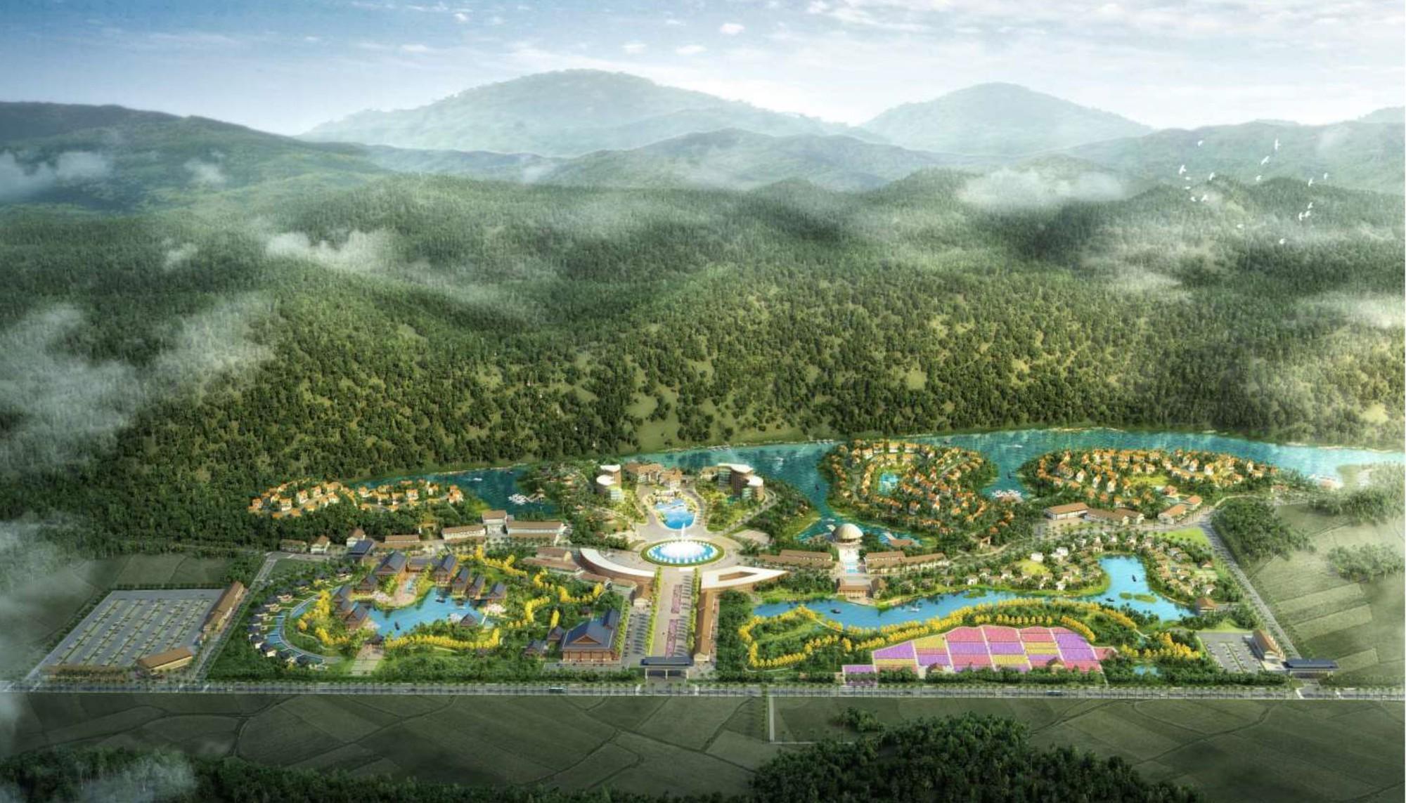 Phối cảnh Dự án Khu du lịch văn hóa và nghỉ dưỡng Lạc Thủy tại xã Phú Lão, huyện Lạc Thủy