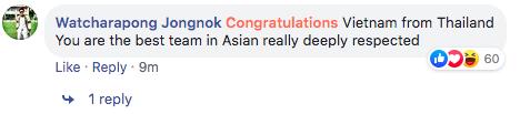 """Fan quốc tế """"náo loạn"""" facebook Liên đoàn bóng châu Á vì chúc mừng tuyển Việt Nam - Ảnh 3."""