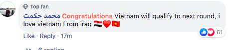 """Fan quốc tế """"náo loạn"""" facebook Liên đoàn bóng châu Á vì chúc mừng tuyển Việt Nam - Ảnh 4."""
