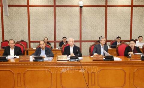 Bộ Chính trị họp dưới sự chủ trì của Tổng Bí thư Nguyễn Phú Trọng - Ảnh 1.