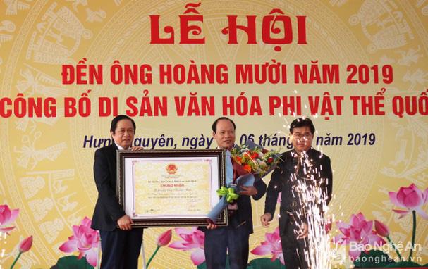 Công bố Di sản văn hóa phi vật thể quốc gia Lễ hội Đền Hoàng Mười - Ảnh 1.