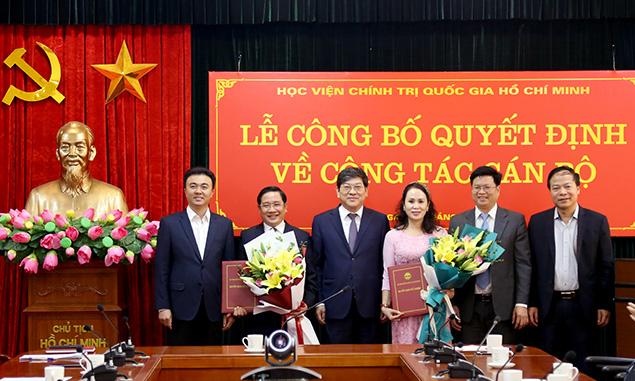 Học viện Chính trị Quốc gia Hồ Chí Minh bổ nhiệm lãnh đạo - Ảnh 1.