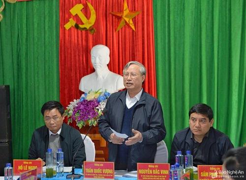 Thường trực Ban Bí thư thăm, làm việc tại xã miền núi Nghệ An - Ảnh 1.