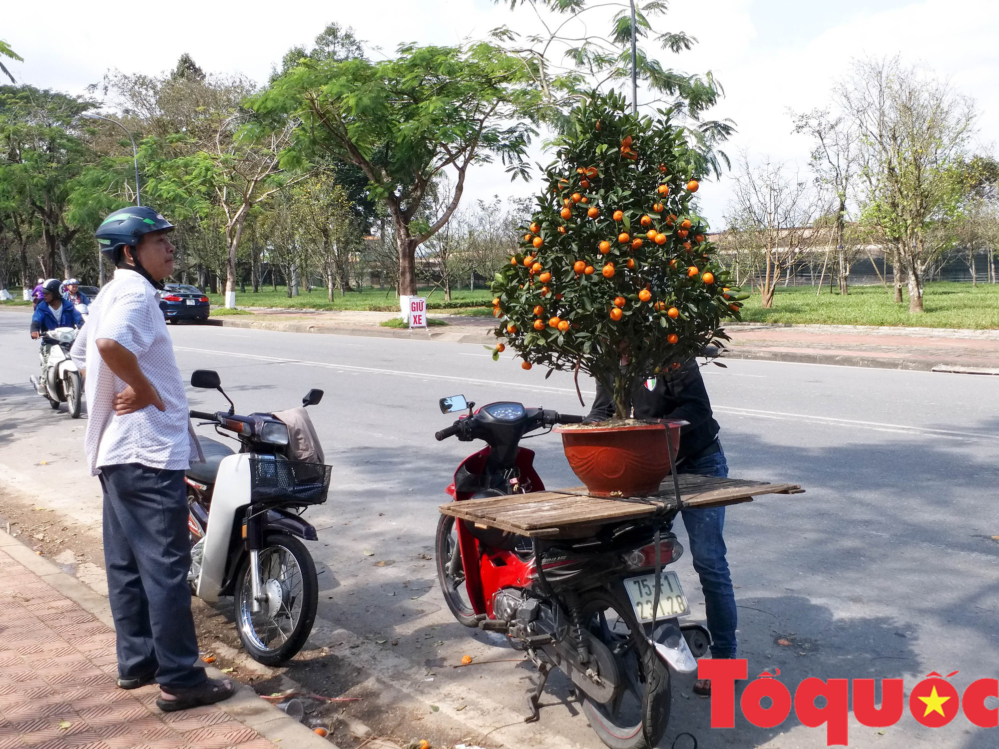 Người dân và du khách tại Huế rộn ràng xuống phố đón Xuân Kỷ Hợi - Ảnh 18.