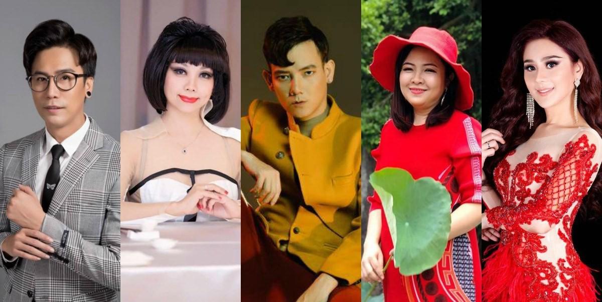 Ảnh 6 Từ trái sang phải là đạo diễn Lê Việt, NTK Quỳnh Paris, đạo diễn Lê Trần Đắc Ngọc, NTK Phương Hồ, Nữ hoàng chuyển giới Lâm Khánh Chi
