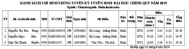 Trường ĐH Sân khấu - Điện ảnh Hà Nội công bố điểm chuẩn và danh sách thí sinh trúng tuyển đại học chính quy  2019 - Ảnh 21.