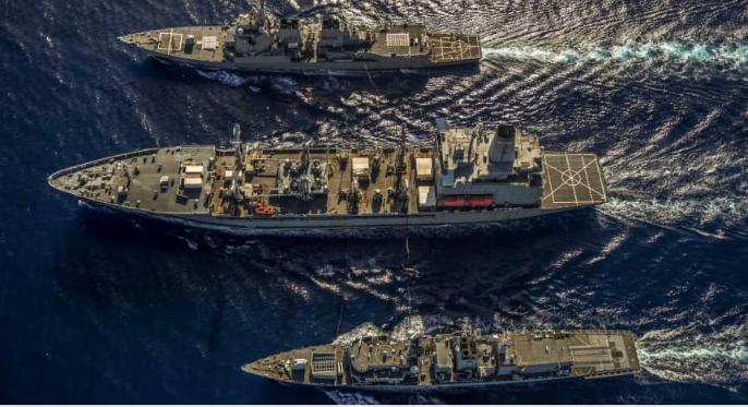 Hải quân Mỹ-Anh tập trận BĐ