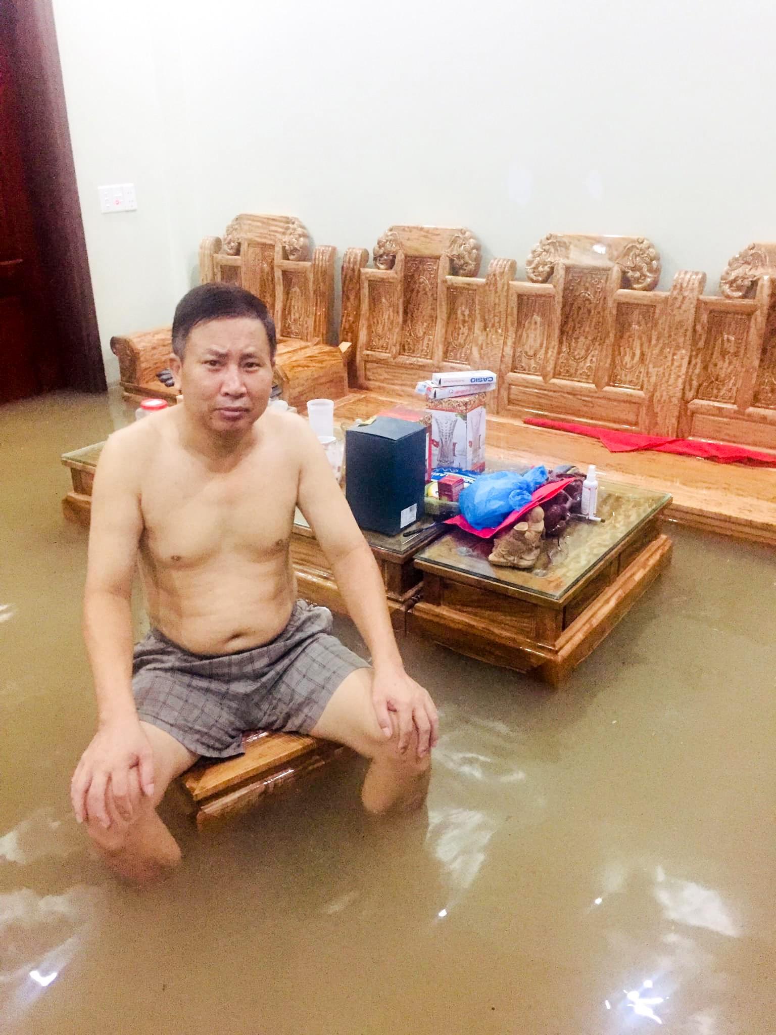 Sau trận mưa lớn kéo dài,  TP Thái Nguyên ngập sâu trong biển nước4