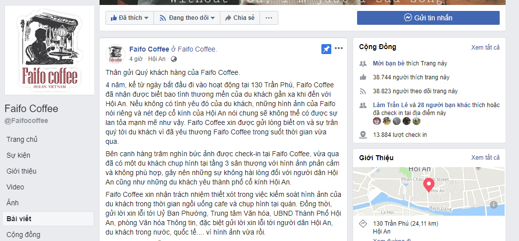 cafe hoian xin loi