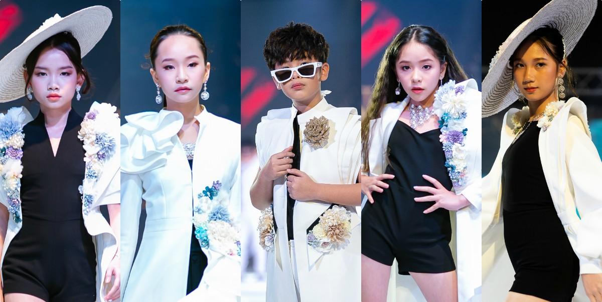 Từ trái qua - Nguyễn Hòa Tú Quyên, Lee Seo Jin, Lê Hồng Sơn, Đỗ Ngọc Như Ý, Nguyễn Nhật Hạ Vi