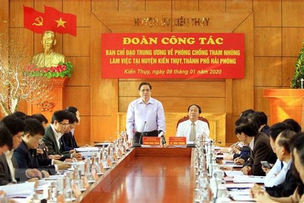 Trưởng ban Tổ chức Trung ương Phạm Minh Chính: Làm tốt công tác cán bộ để hạn chế tham nhũng - Ảnh 1.