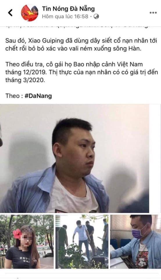 Fanpage tung tin sai sự thật về vụ án người Trung Quốc sát hại đồng hương tại Đà Nẵng bị xử lý - Ảnh 2.