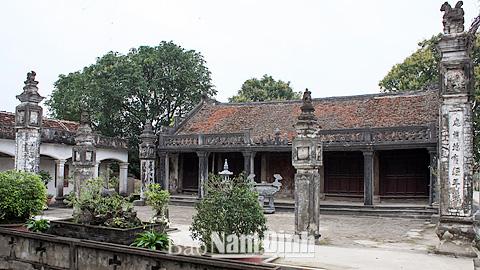 Nam Định đề nghị xếp hạng di tích lịch sử cấp Quốc gia - Ảnh 1.