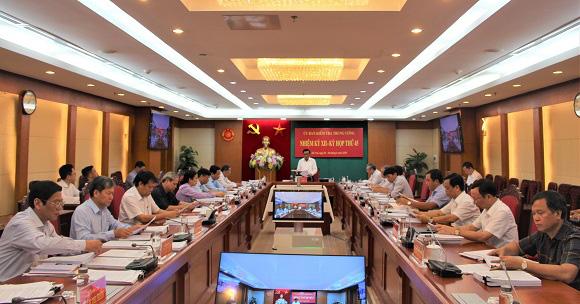 Thông cáo báo chí kỳ họp 45 của Ủy ban Kiểm tra Trung ương - Ảnh 1.