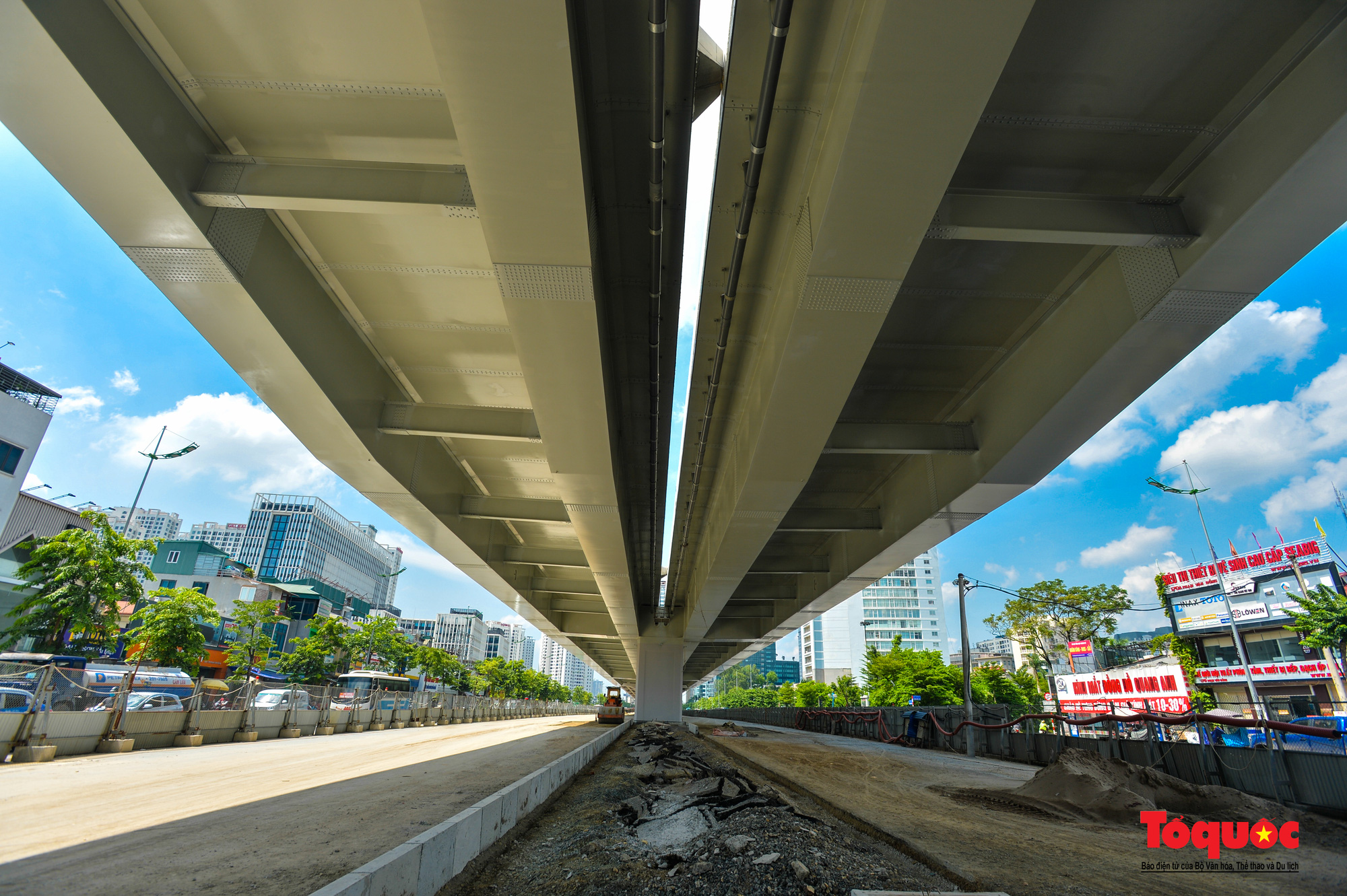 Toàn cảnh Đường vành đai 3 trên cao đoạn Mai Dịch – cầu Thăng Long - Ảnh 6.