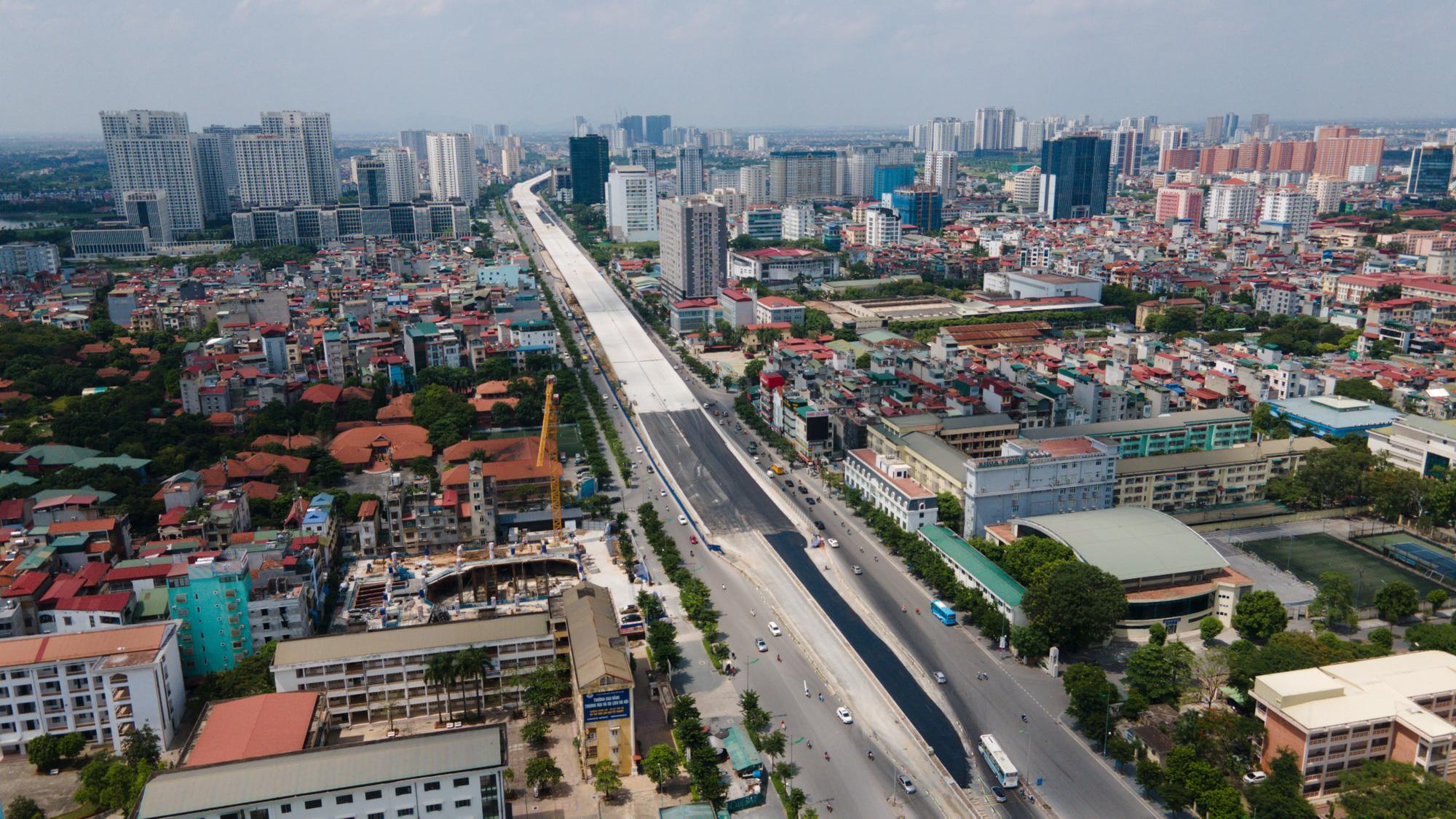 Toàn cảnh Đường vành đai 3 trên cao đoạn Mai Dịch – cầu Thăng Long - Ảnh 1.