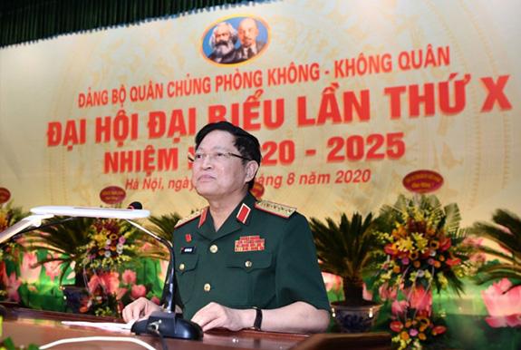 Đại tướng Ngô Xuân Lịch dự Đại hội đại biểu Đảng bộ Quân chủng Phòng không - Không quân - Ảnh 1.