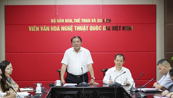 Nỗ lực nghiên cứu, tiếp tục khẳng định thương hiệu Viện Văn hóa nghệ thuật quốc gia Việt Nam - Ảnh 1.