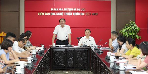 Nỗ lực nghiên cứu, tiếp tục khẳng định thương hiệu Viện Văn hóa nghệ thuật quốc gia Việt Nam - Ảnh 2.