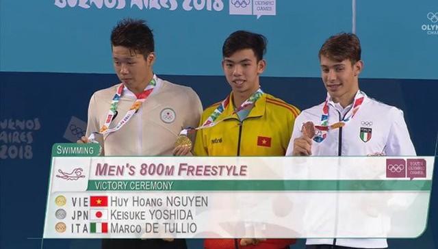 Nguyễn Huy Hoàng giành HCV ở nội dung 800m tự do (Ảnh: Vietnamnet).