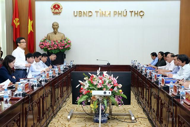 Phó Thủ tướng Vũ Đức Đam làm việc tại tỉnh Phú Thọ - Ảnh 3.