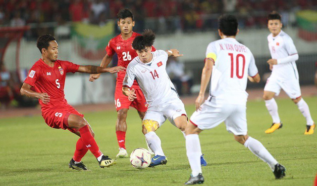 Hình ảnh: Hòa Myanmar, ĐT Việt Nam Việt Nam đặt một chân vào bán kết  AFF Cup 2018 số 1