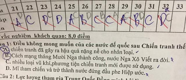 Thí sinh khóc thét với kết quả thi trắc nghiệm 20 câu chỉ đúng 1  - Ảnh 5.