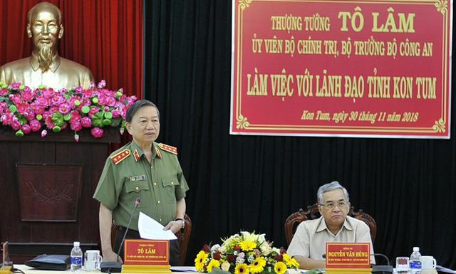 Bộ trưởng Tô Lâm yêu cầu công an Gia Lai cần nâng cao hiệu quả trong lãnh đạo, chỉ đạo - Ảnh 1.