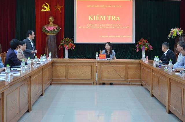 Thứ trưởng Trịnh Thị Thủy làm việc với lãnh đạo Sở Văn hóa Thể thao và Du lịch Lạng Sơn về công tác cải cách hành chính - Ảnh 2.