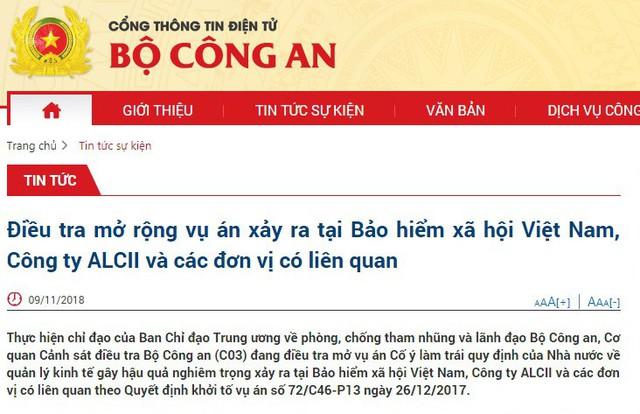 Bộ Công an: Đang điều tra mở rộng vụ án tại Bảo hiểm xã hội Việt Nam - Ảnh 1.