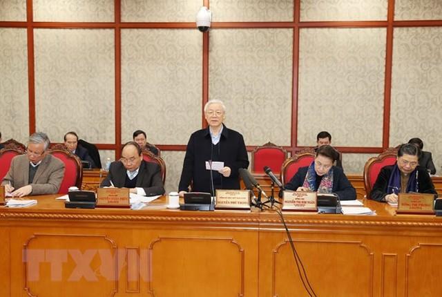 Bộ Chính trị làm việc với Ban Thường vụ Thành ủy Đà Nẵng - Ảnh 1.