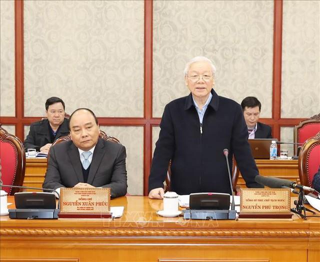 Bộ Chính trị làm việc với Ban Thường vụ Thành ủy Đà Nẵng - Ảnh 2.