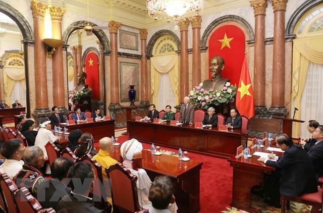 Tổng Bí thư, Chủ tịch nước gặp mặt các già làng, trưởng bản tiêu biểu - Ảnh 1.