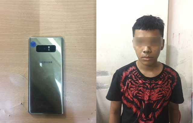 Trinh sát đặc nhiệm quật ngã tên cướp điện thoại của du khách Hàn Quốc - Ảnh 1.