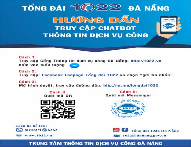 Tổng đài 1022 Đà Nẵng ứng dụng thí điểm chatbot trong cung cấp thông tin dịch vụ công tại TP Đà Nẵng  - Ảnh 2.