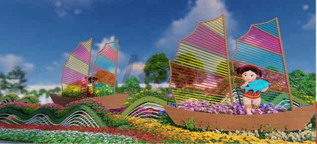 Quảng Ninh thu nhỏ đẹp diệu kỳ trong Lễ hội hoa xuân hoành tráng tại Sun World Halong Complex - Ảnh 3.