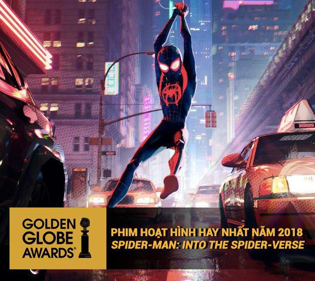 Sau khi giành giải Quả cầu vàng, Người nhện: Vũ trụ mới…trở lại vị trí thứ ba trên bảng xếp hạng doanh thu - Ảnh 1.